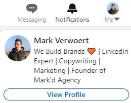 LinkedIn view profile