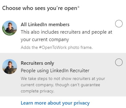 can my employer see that im looking for a job on linkedin